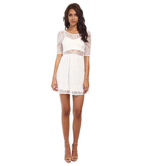 MINKPINK - Meet Me In St.Louis Dress (Cream) Women's Dress