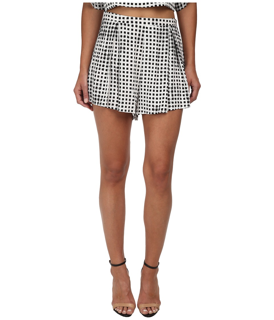 MINKPINK - Gingham Shorts (Black) Women's Shorts