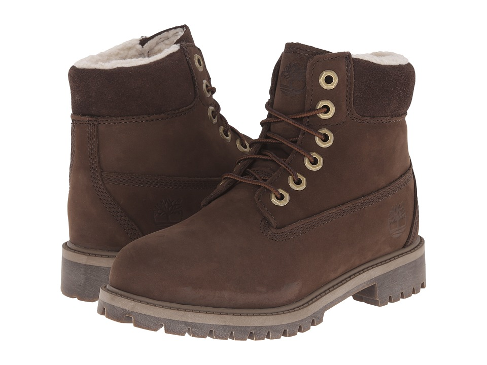 Timberland Kids - 6 Premium w/ Faux Shearling (Big Kid) (Brown) Kids Shoes