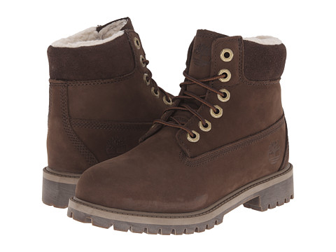 Timberland Kids - 6 Premium w/ Faux Shearling (Big Kid) (Brown) Kids Shoes