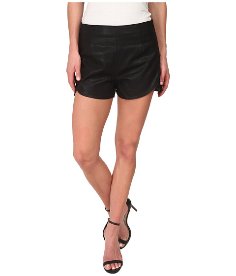 MINKPINK - French Kiss Pu Shorts (Black) Women