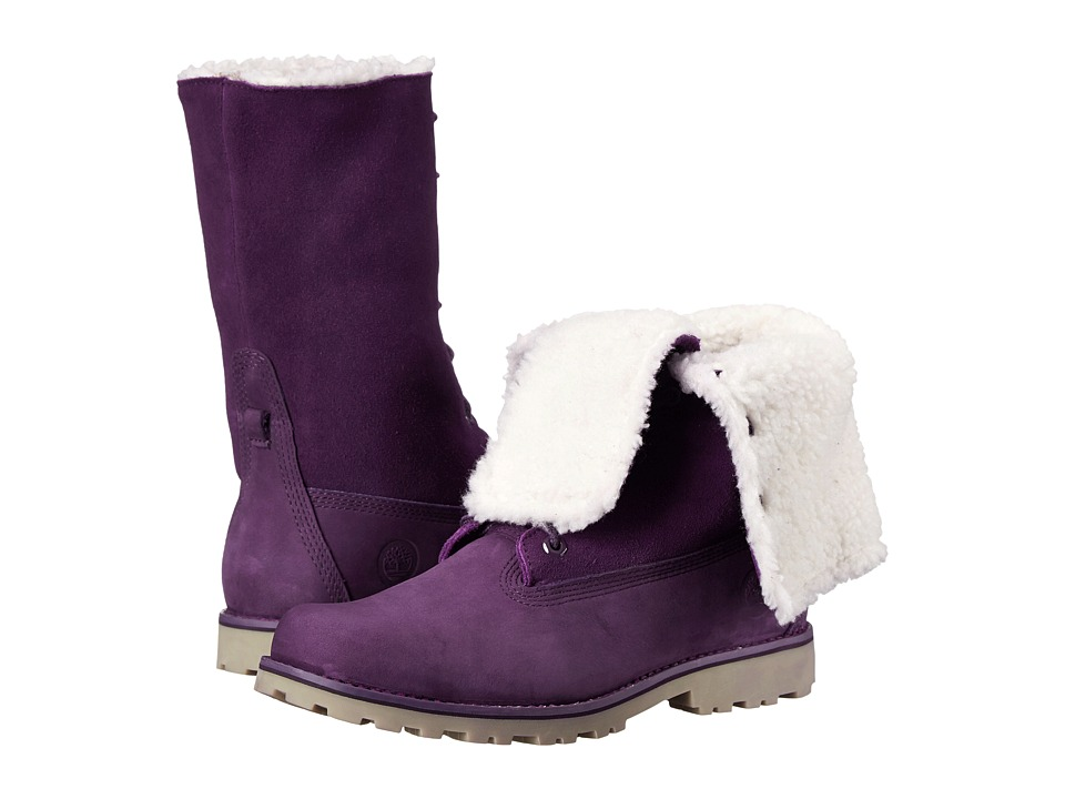 Timberland Kids - Authentics 6 Waterproof Faux Shearling (Big Kid) (Purple Monochromatic) Girls Shoes