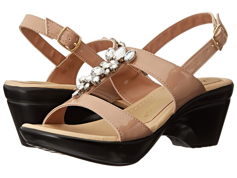 Athena Alexander - Storia (Nude Patent) Women's Slide Shoes