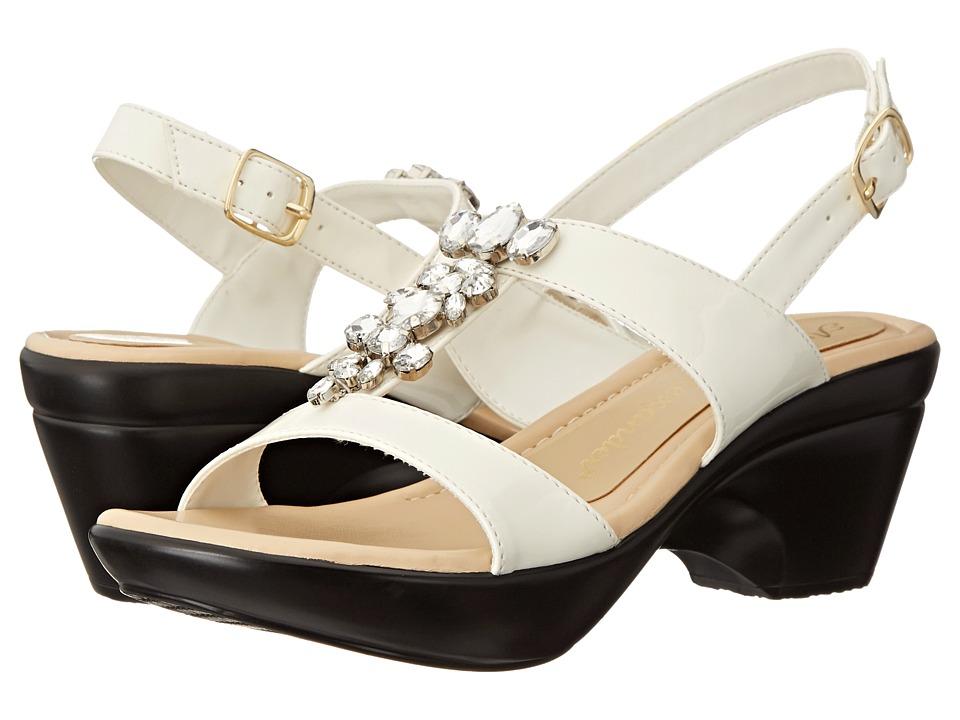 Athena Alexander - Storia (White Patent) Women's Slide Shoes