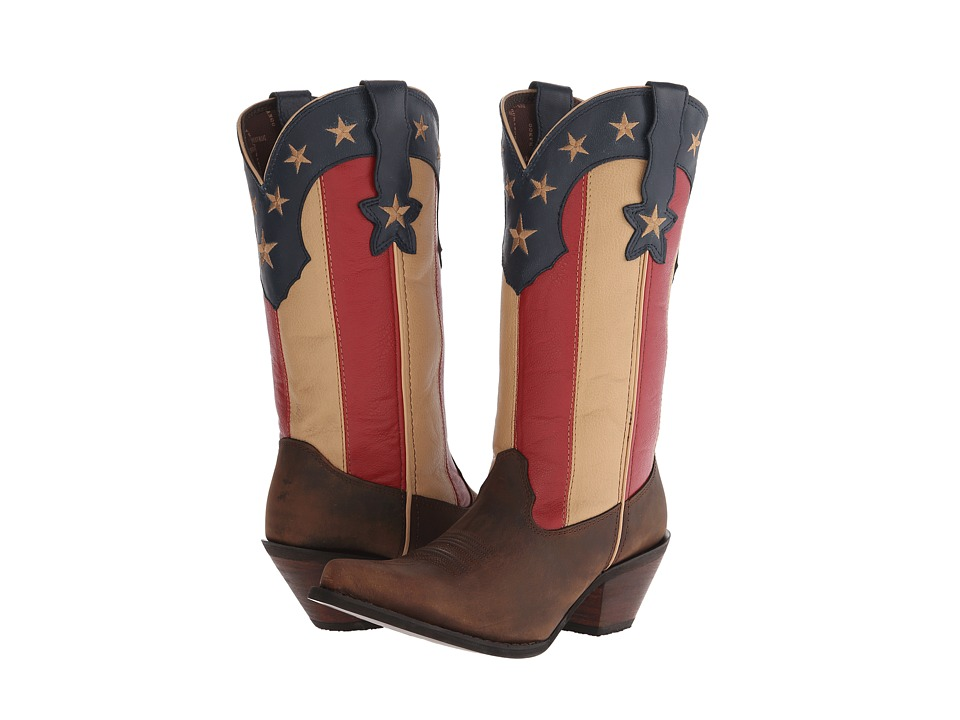 Durango Crush 12 Stars and Stripes (Dark Brown/Union Flag) Cowboy Boots