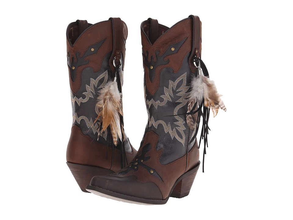 Durango Crush 12 w/ Feather (Brown/Black) Cowboy Boots
