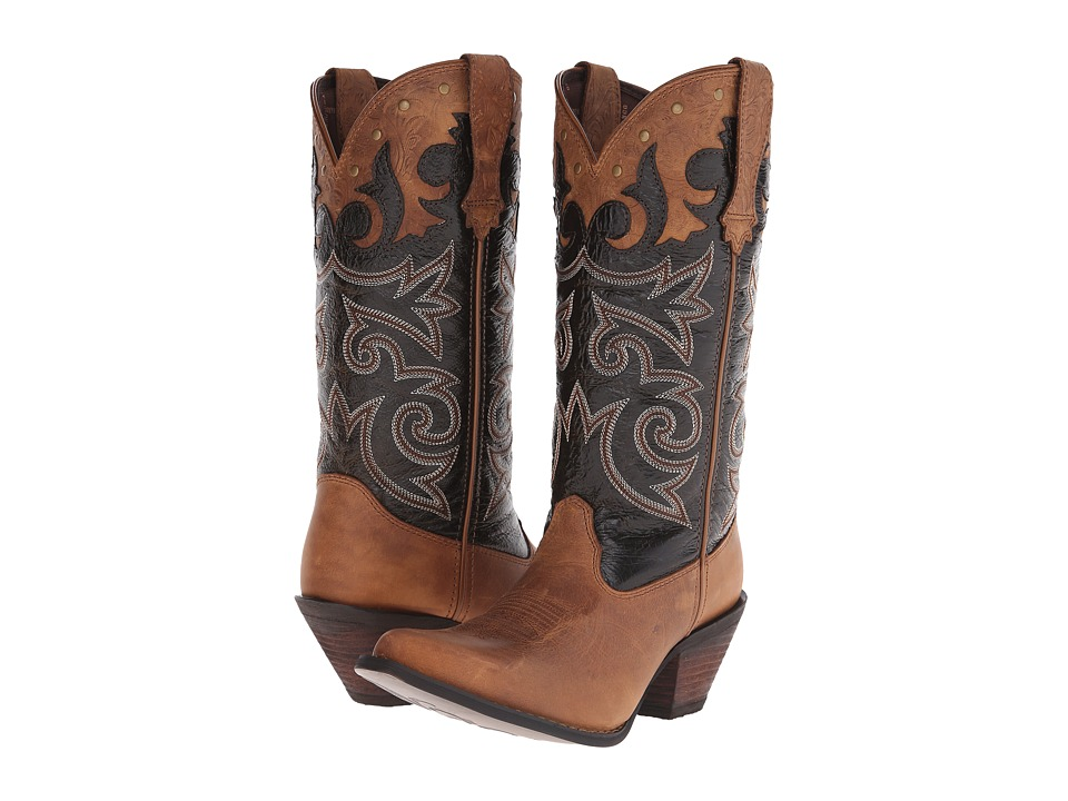 Durango - Crush 12 Underlay w/ Tooling (Distressed Brown) Cowboy Boots