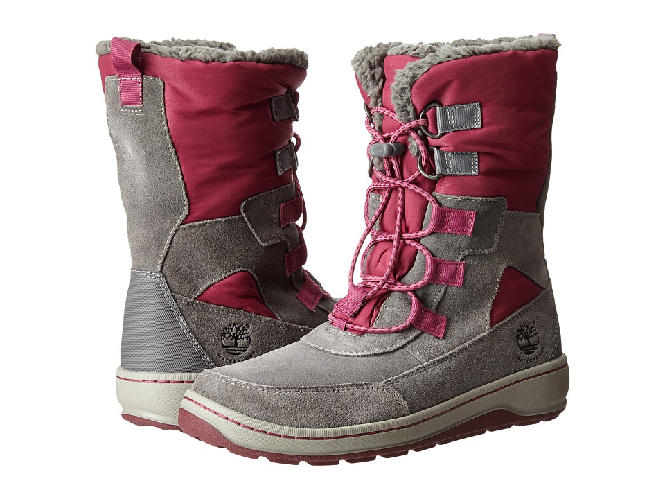 Timberland Kids - Winterfest Waterproof Boot (Big Kid) (Grey) Girls Shoes