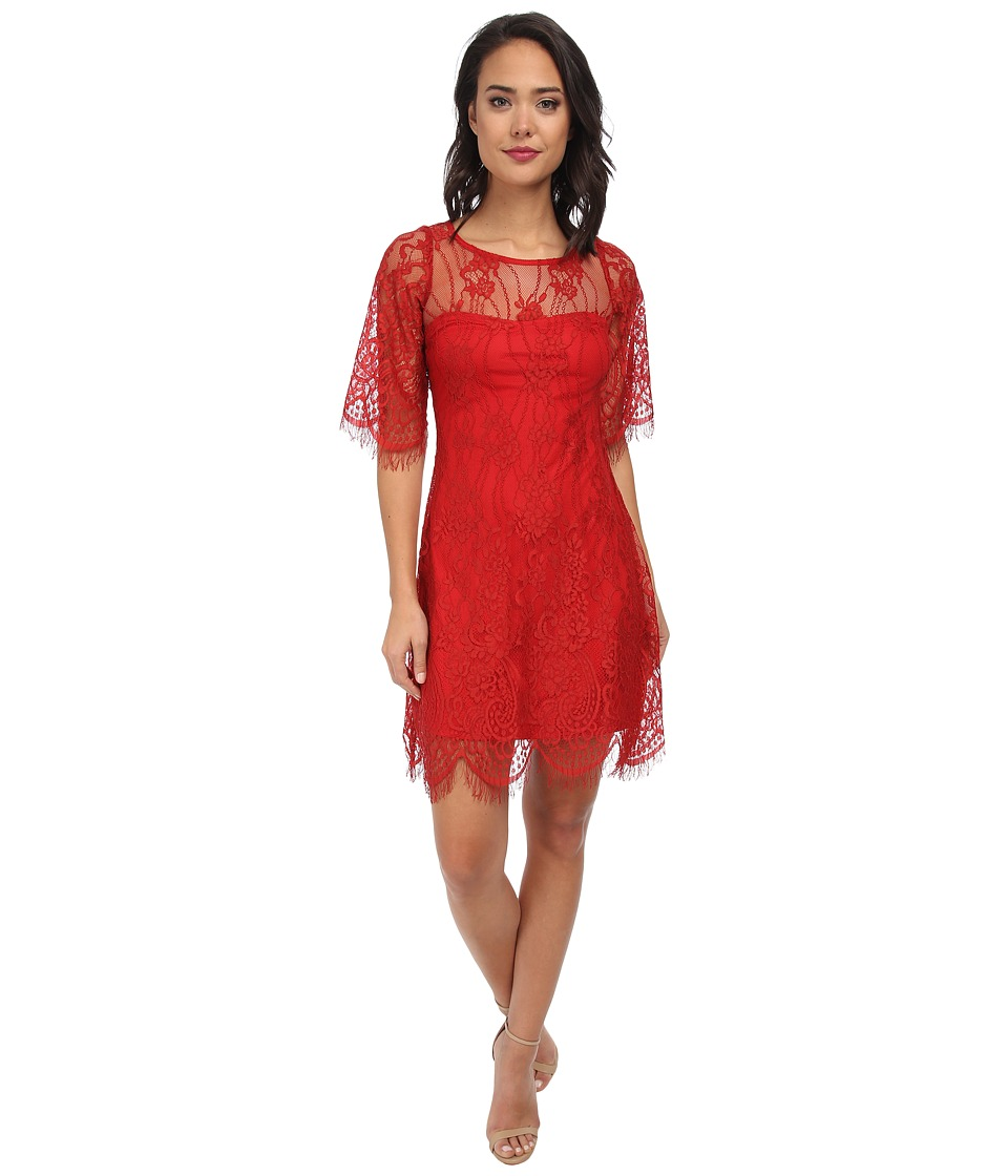 Alejandra Sky - Evita Lace Dress (Red) Women's Dress