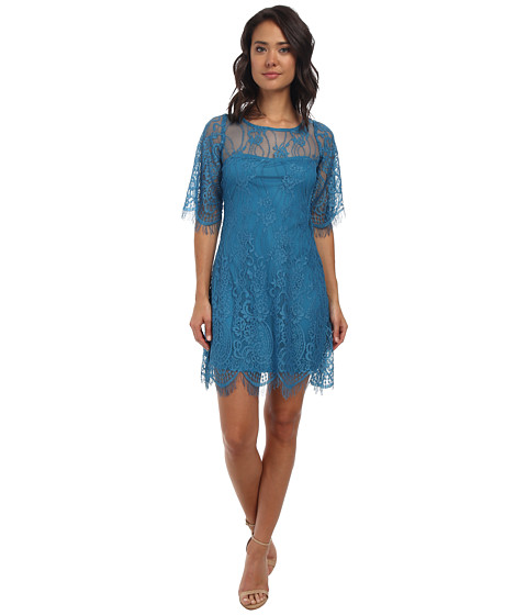 Alejandra Sky - Evita Lace Dress (Teal) Women's Dress