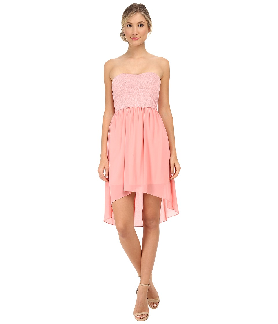 Alejandra Sky - Emmie Strapless Sparkle Dress (Pink) Women's Dress