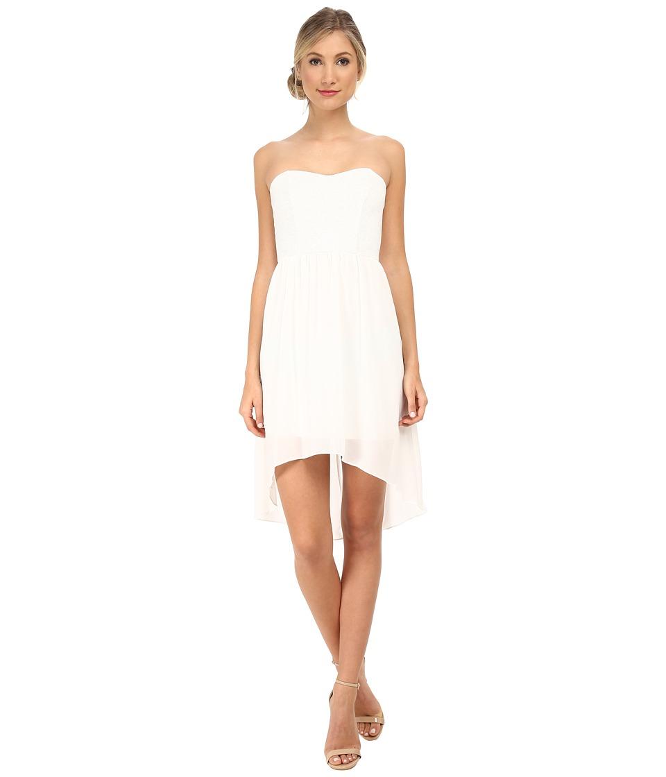 Alejandra Sky - Emmie Strapless Sparkle Dress (White) Women's Dress