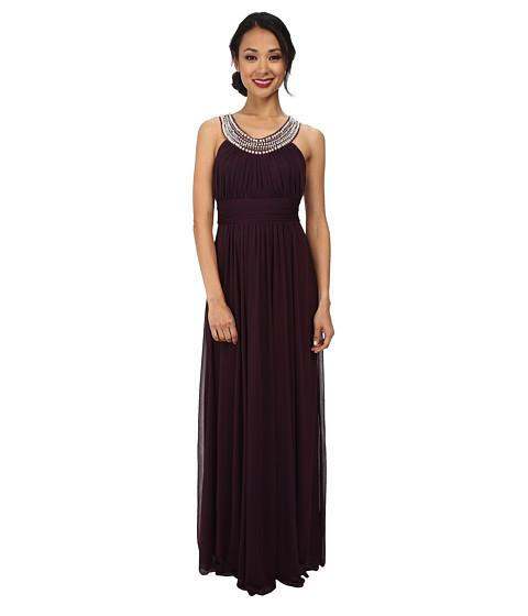 Alejandra Sky - Marcie Pearl Neckline Gown (Plum) Women's Dress
