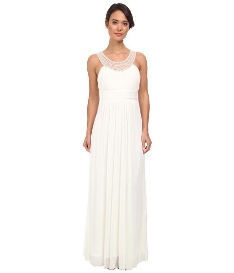 Alejandra Sky - Marcie Pearl Neckline Gown (Ivory) Women's Dress