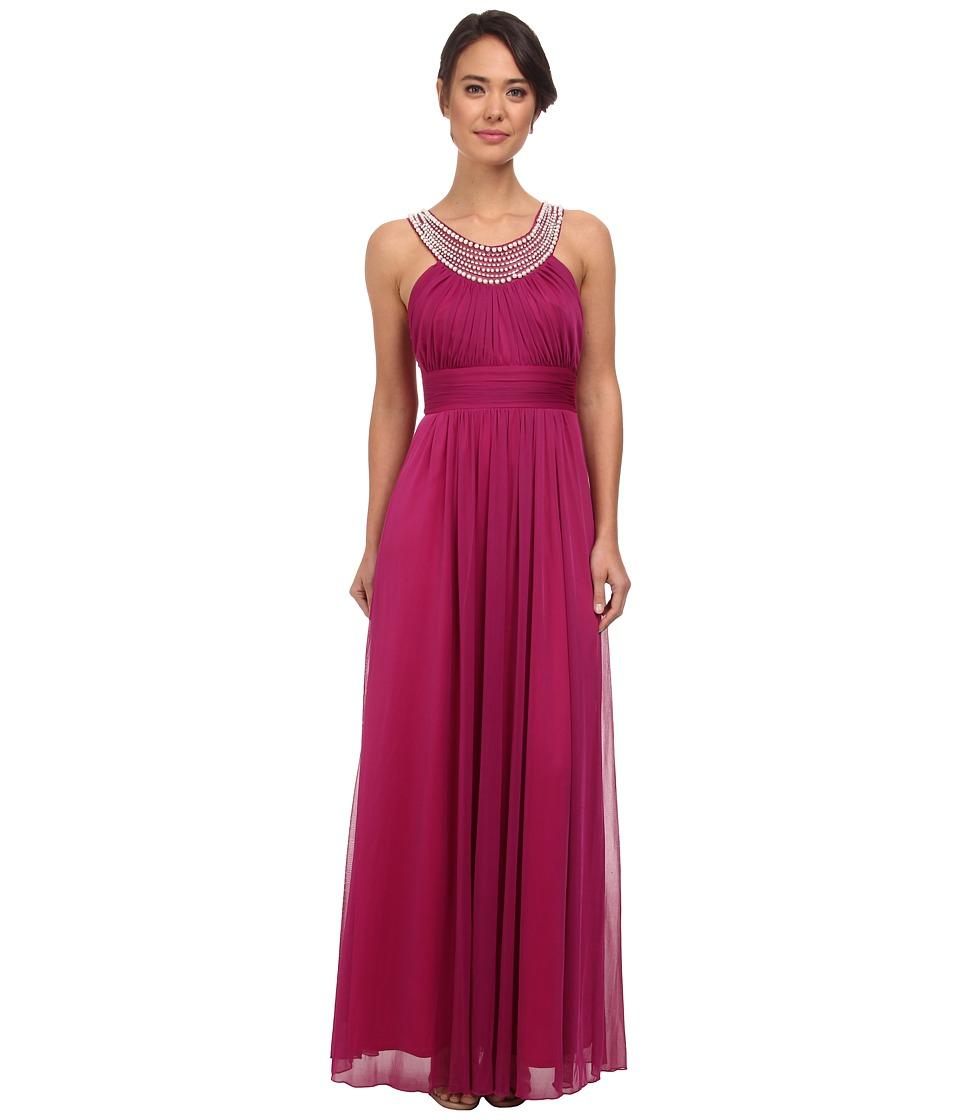 Alejandra Sky - Marcie Pearl Neckline Gown (Magenta) Women's Dress