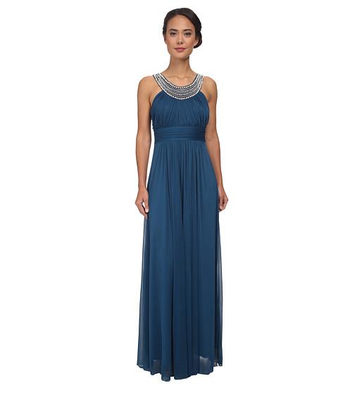 Alejandra Sky - Marcie Pearl Neckline Gown (Dark Teal) Women's Dress