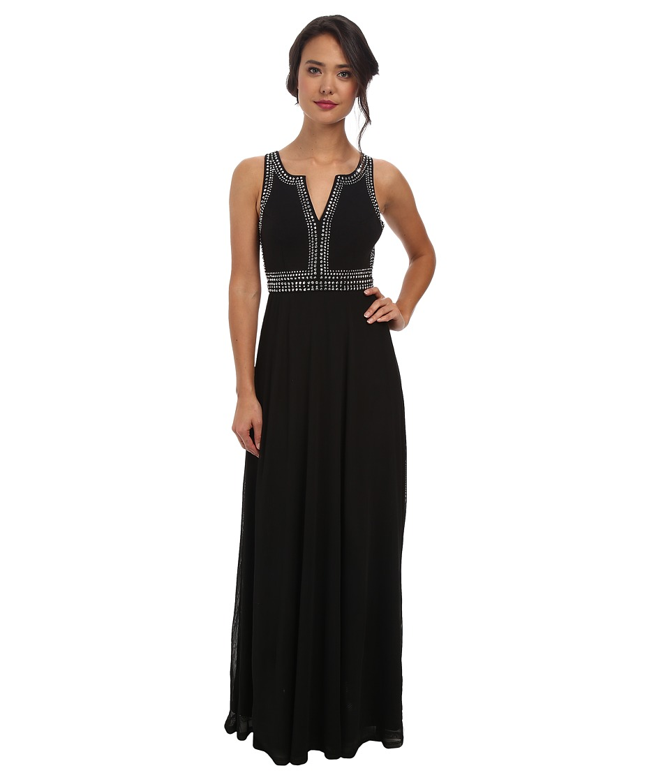 Alejandra Sky - Jackelyn Rhinestone Dress (Black) Women's Dress