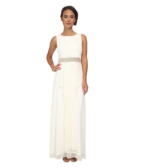 Alejandra Sky - Scarlett Pearl Middle Long Dress (Ivory) Women