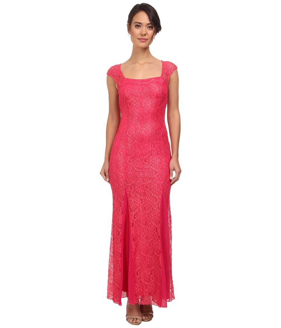 Alejandra Sky - Bria Ribbon Tie Back Dress (Fuchsia) Women's Dress