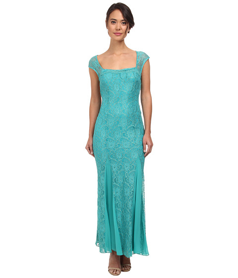 Alejandra Sky - Bria Ribbon Tie Back Dress (Jade) Women