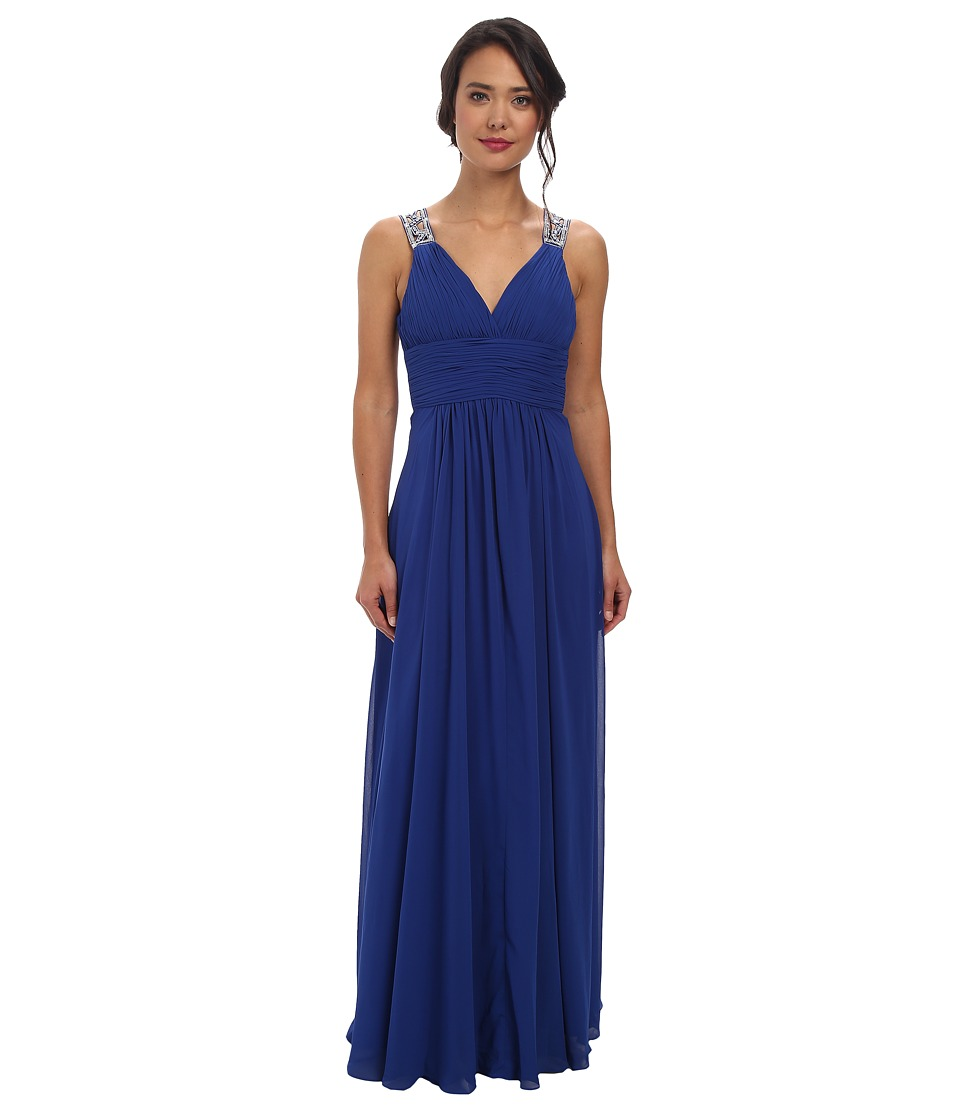 Alejandra Sky - Mayra Rhinestone Shoulder Gown (Royal Blue) Women