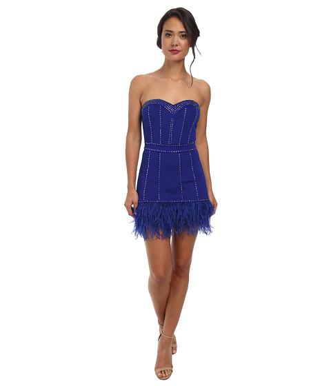Alejandra Sky - Nicole Feather Strapless Dress (Royal) Women's Dress