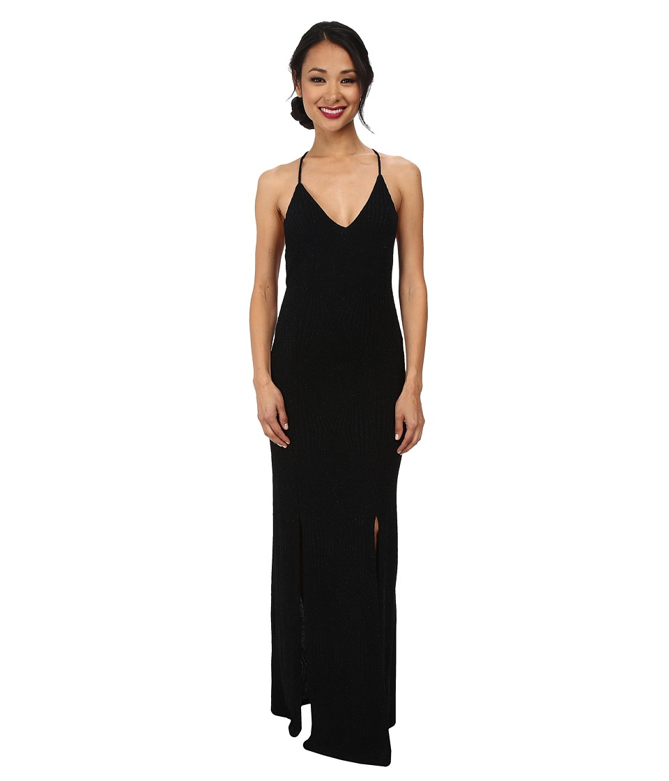 Alejandra Sky - Gia Cross Back Maxi Dress (Black) Women's Dress
