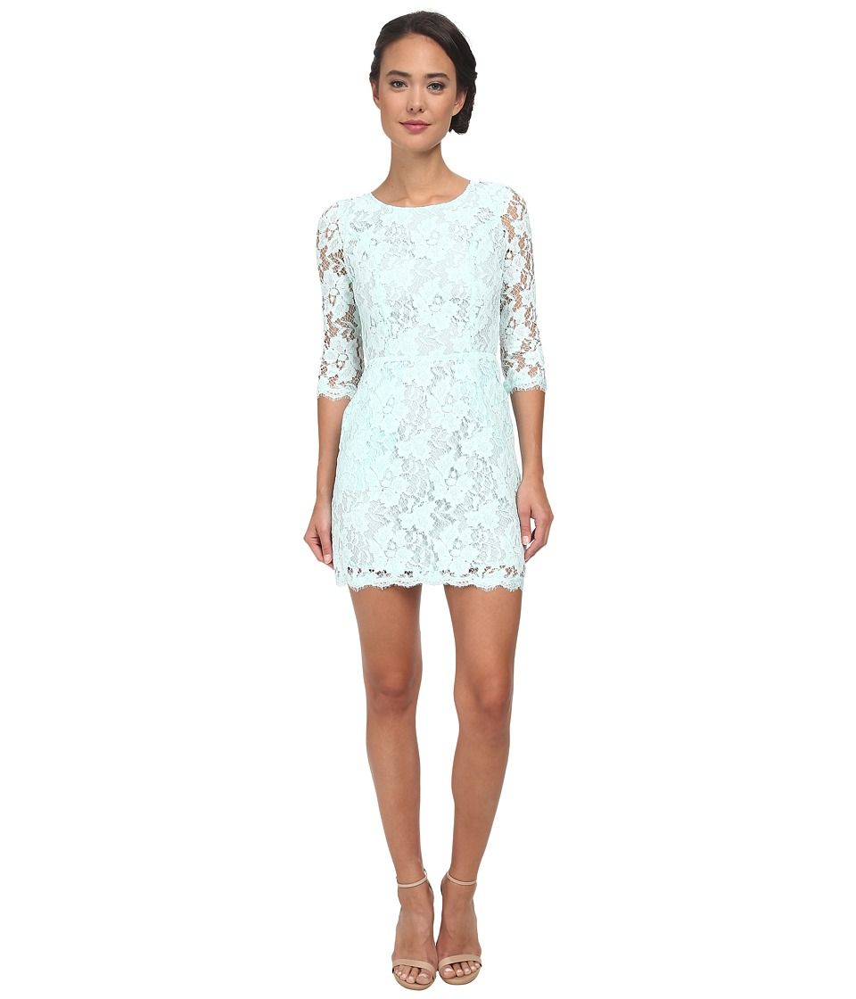 Alejandra Sky - Wendi 3/4 Sleeve Lace Dress (Sea Mist) Women's Dress
