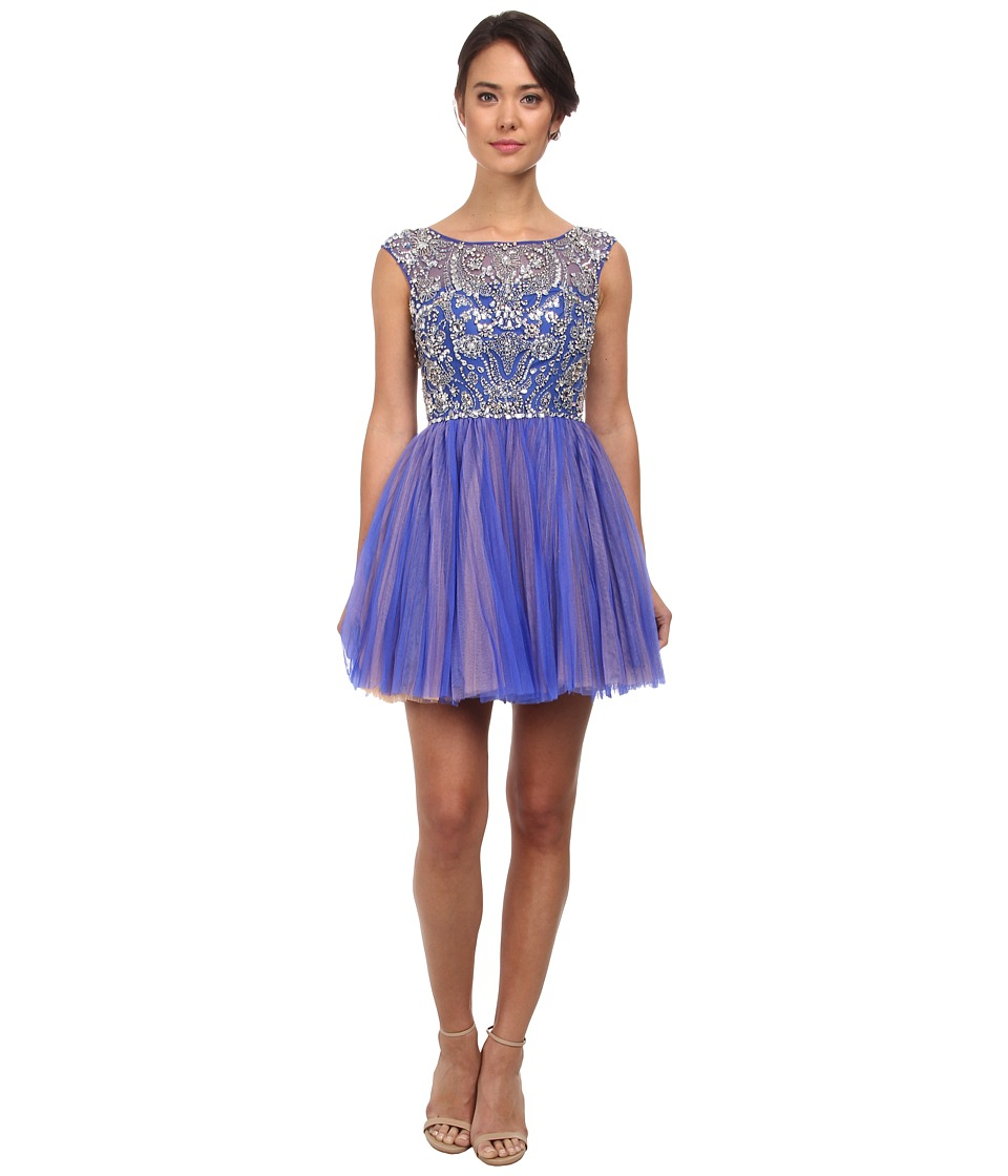 Alejandra Sky - Chloe Rhinestone Tule Dress (Royal Blue) Women's Dress
