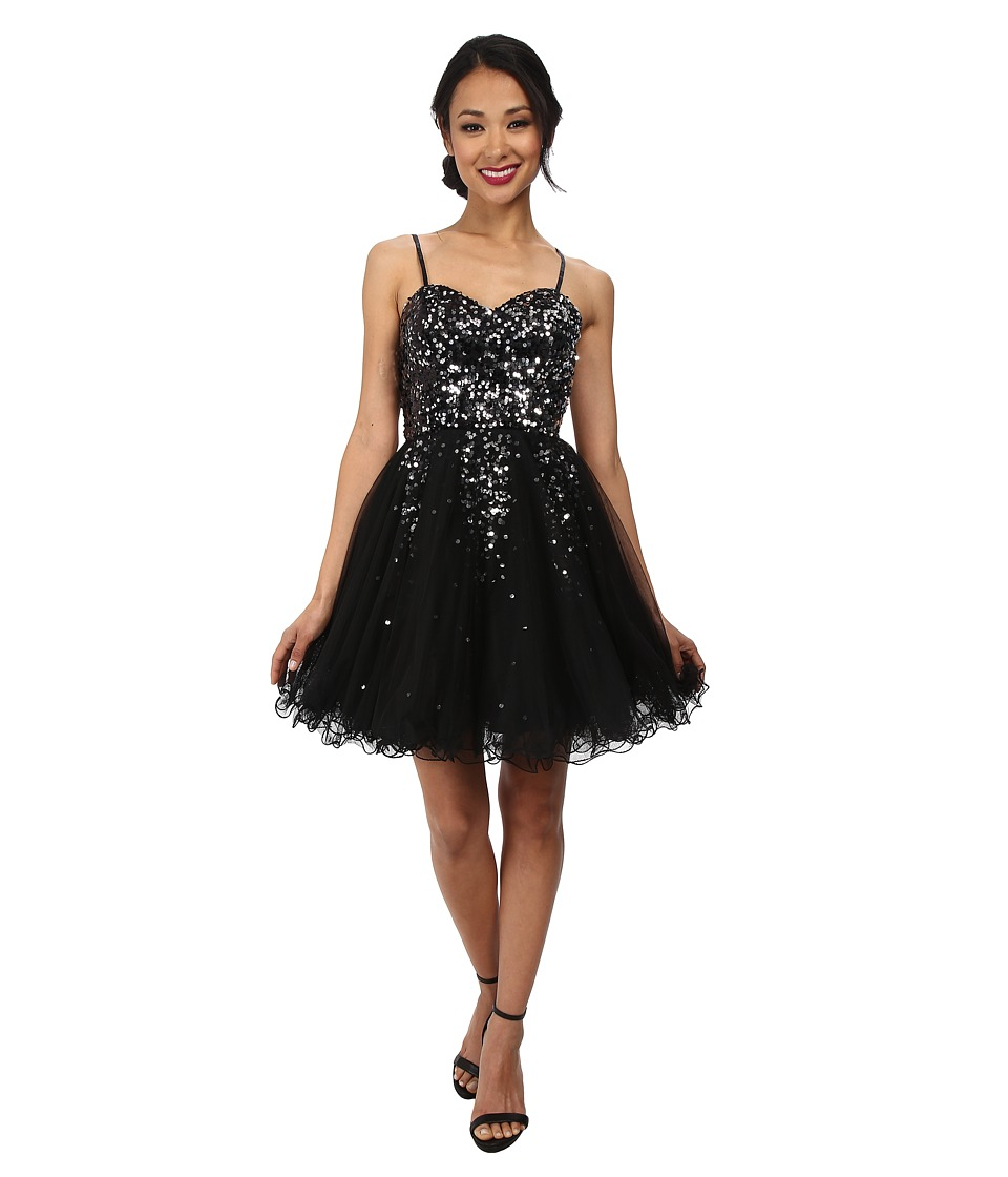 Alejandra Sky - Hayley Sequin Short Dress (Black) Women's Dress