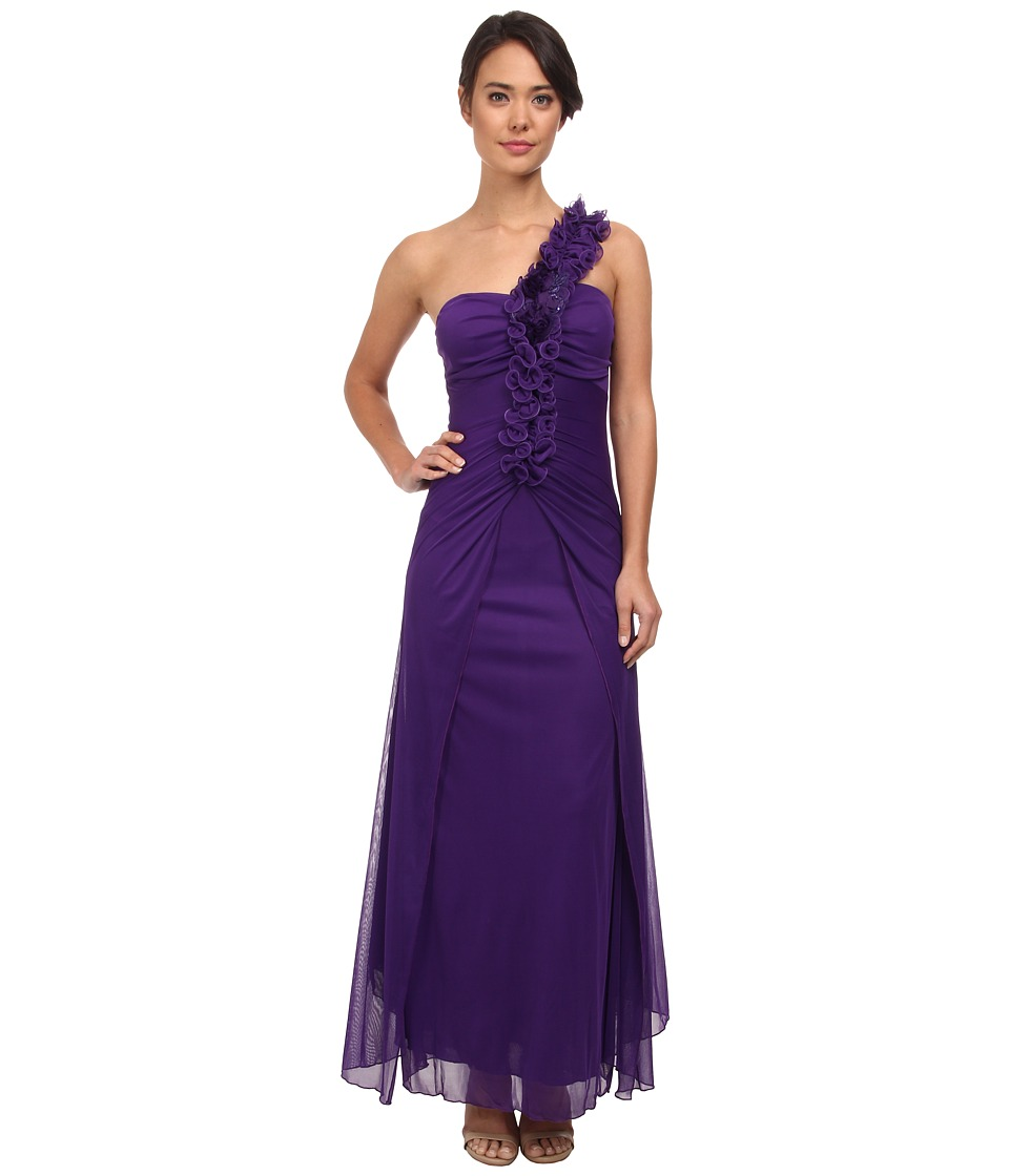 Alejandra Sky - Evie One Shoulder Long Gown (Purple) Women's Dress