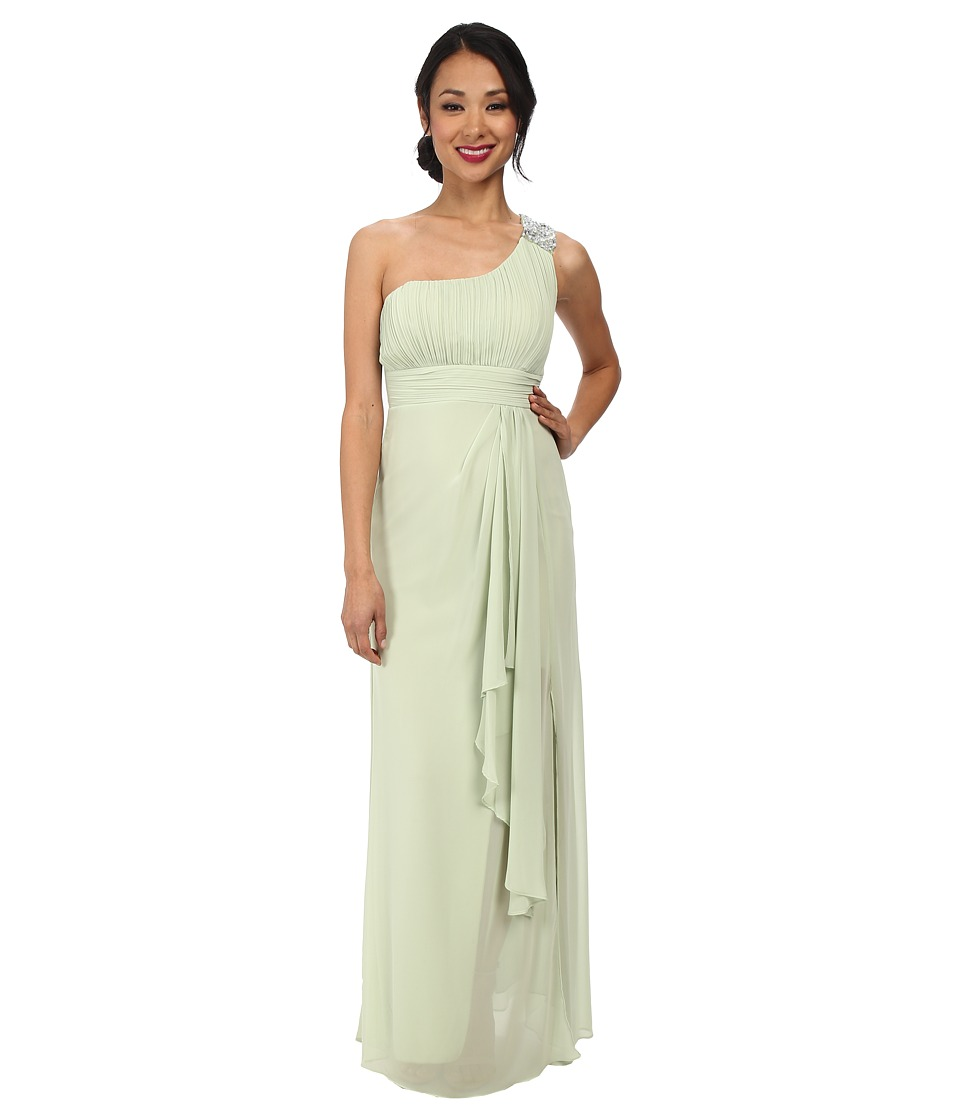 Alejandra Sky - Simone One Shoulder Dress (Sage) Women's Dress