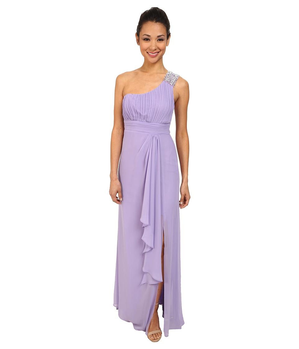 Alejandra Sky - Simone One Shoulder Dress (Lilac) Women