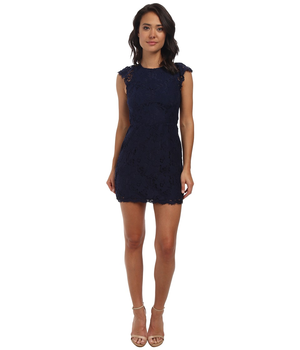 Alejandra Sky - Cassie Lace Dress (Navy) Women's Dress