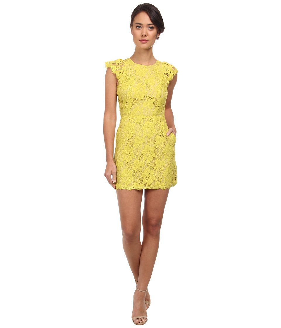 Alejandra Sky - Cassie Lace Dress (Lime) Women's Dress