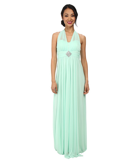Alejandra Sky - Darcy Chiffon Halter Gown (Mint) Women's Dress