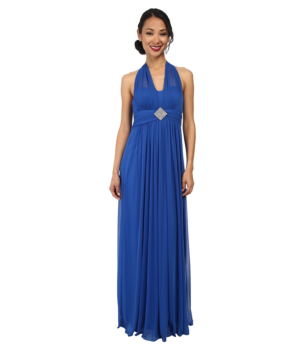 Alejandra Sky - Darcy Chiffon Halter Gown (Royal Blue) Women's Dress
