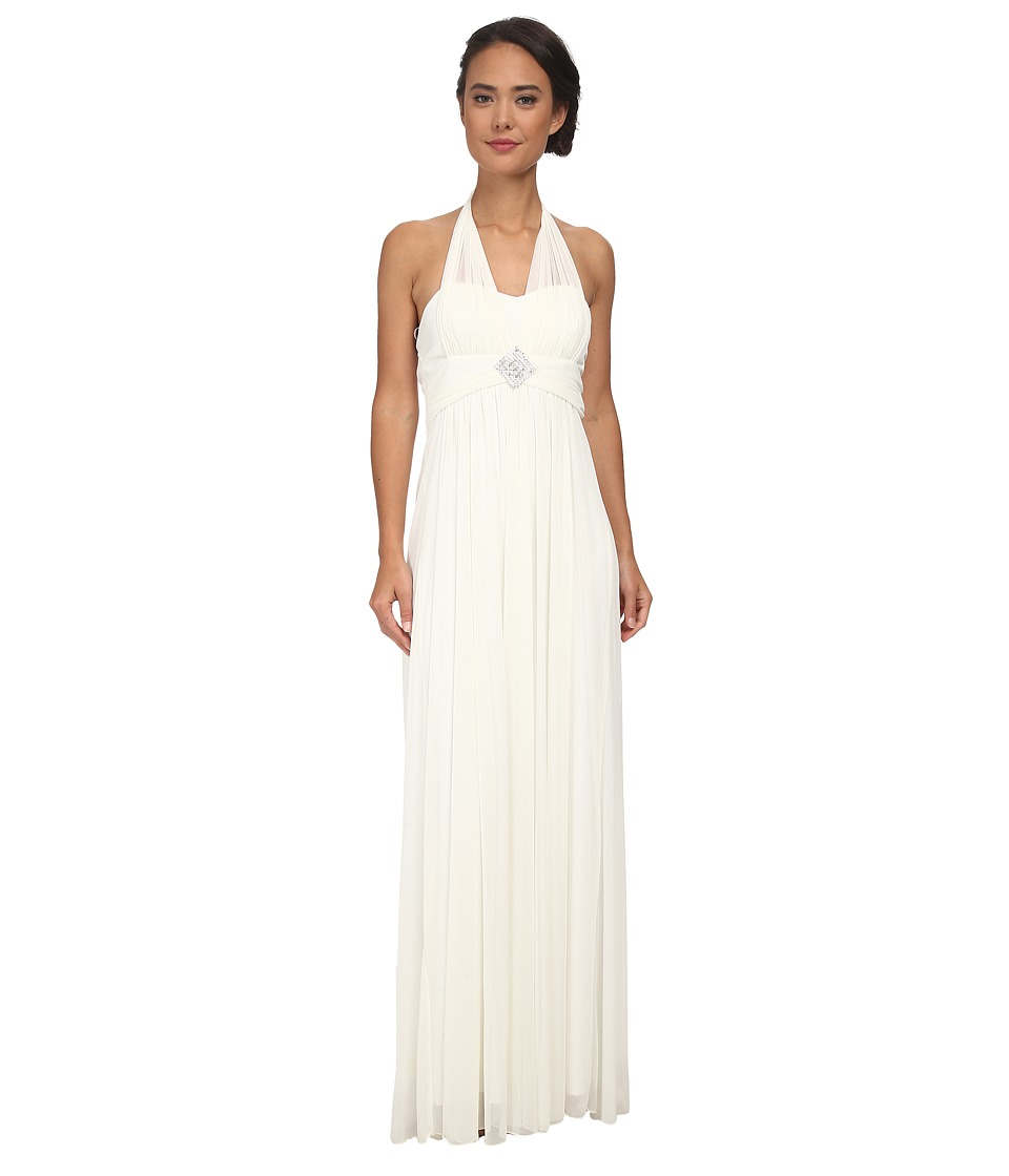 Alejandra Sky - Darcy Chiffon Halter Gown (Ivory) Women's Dress