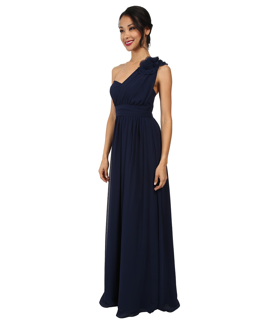 Alejandra Sky - Danielle One Shoulder Gown (Navy) Women's Dress