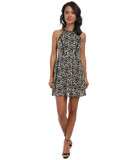 Alejandra Sky - April Sleeveless Dress (Black/Ivory) Women's Dress