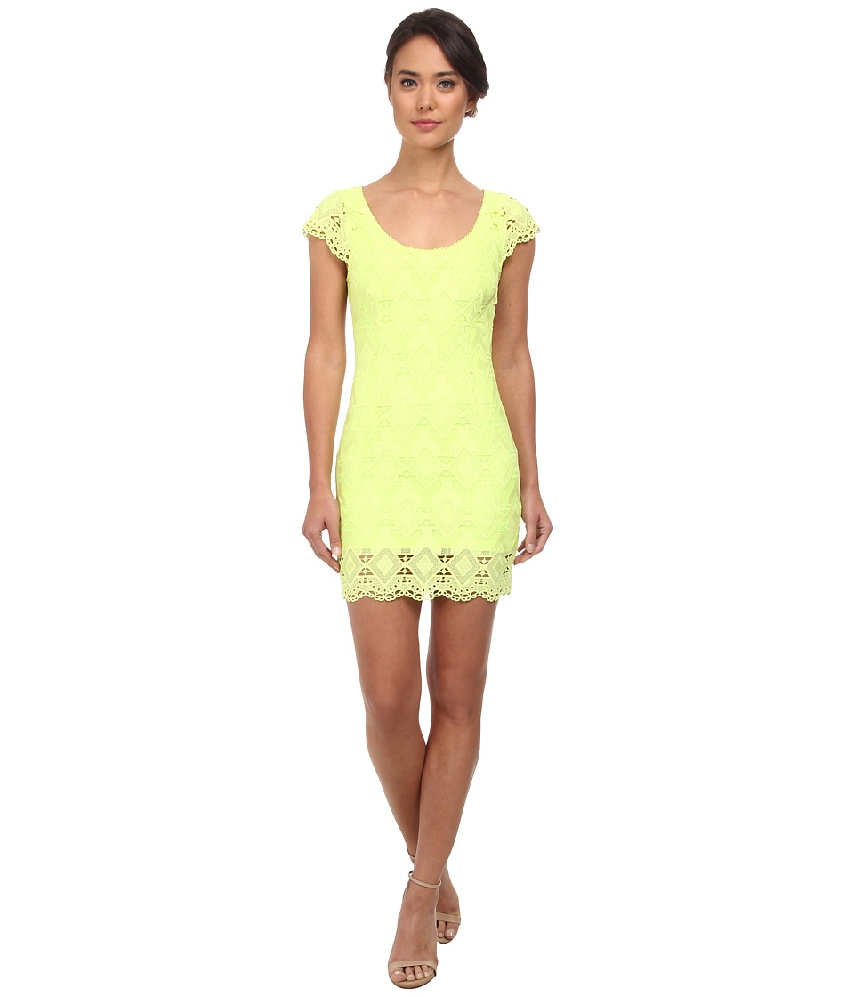 Alejandra Sky - Leyla Crochet Open Back Dress (Lime) Women's Dress