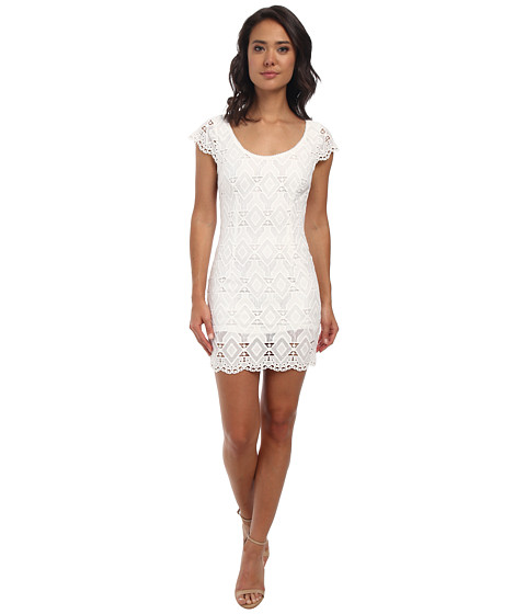 Alejandra Sky - Leyla Crochet Open Back Dress (White) Women
