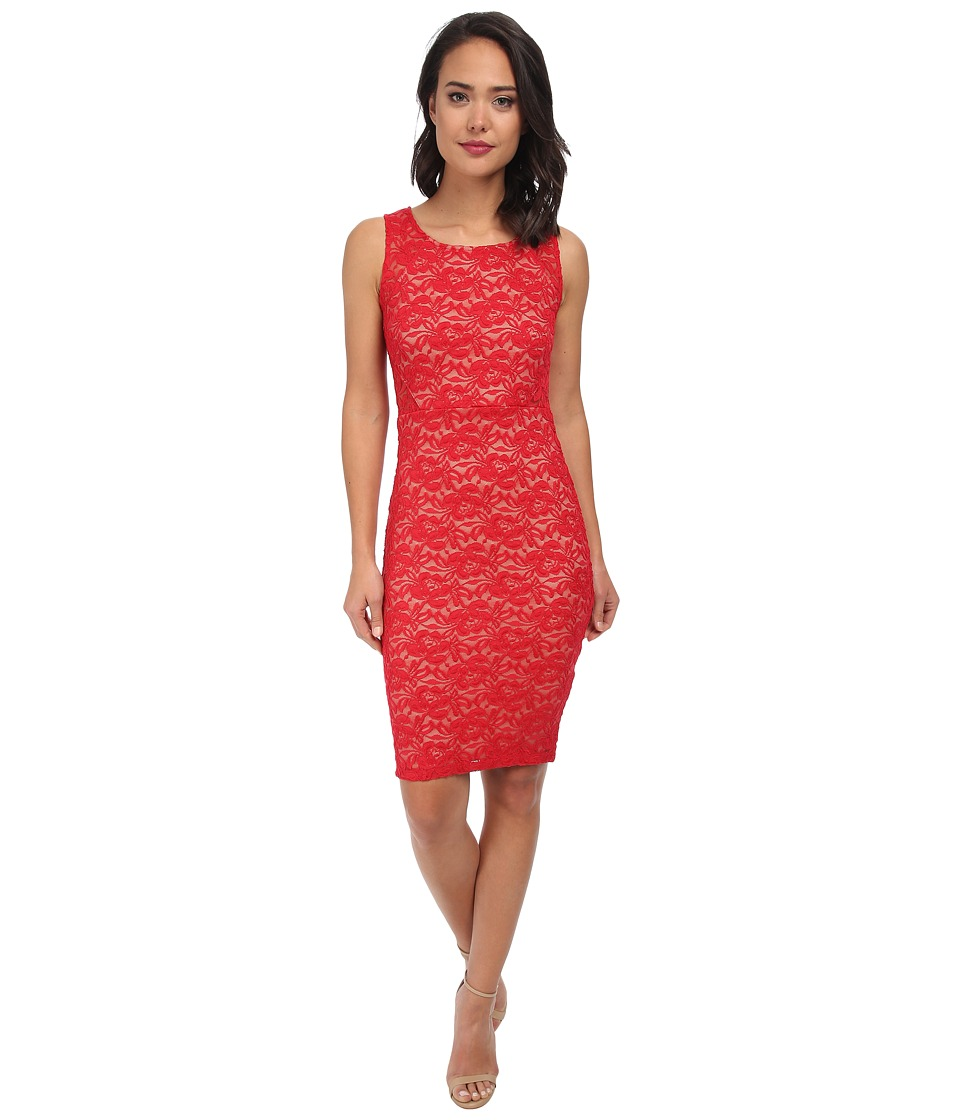 Alejandra Sky - Isabel Lace Sleeveless Dress (Red) Women's Dress