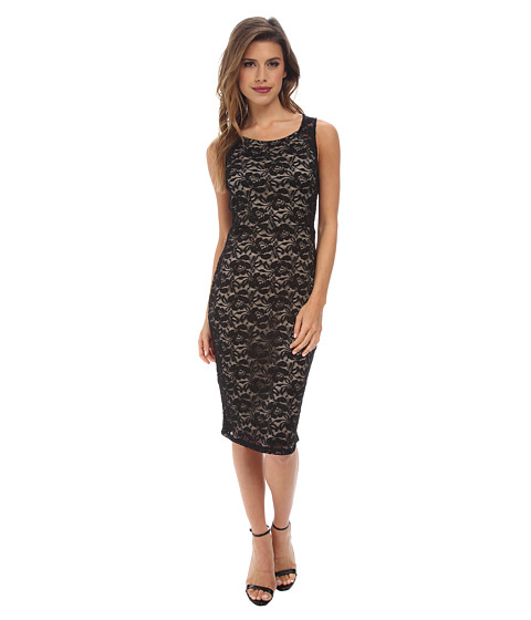 Alejandra Sky - Isabel Lace Sleeveless Dress (Black) Women