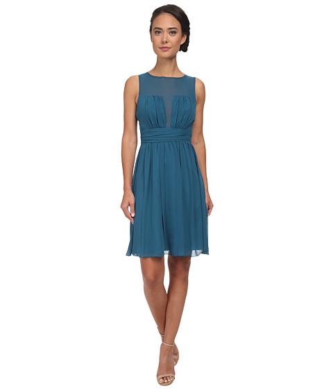 Alejandra Sky - Shari Chiffon Short Dress (Dark Teal) Women