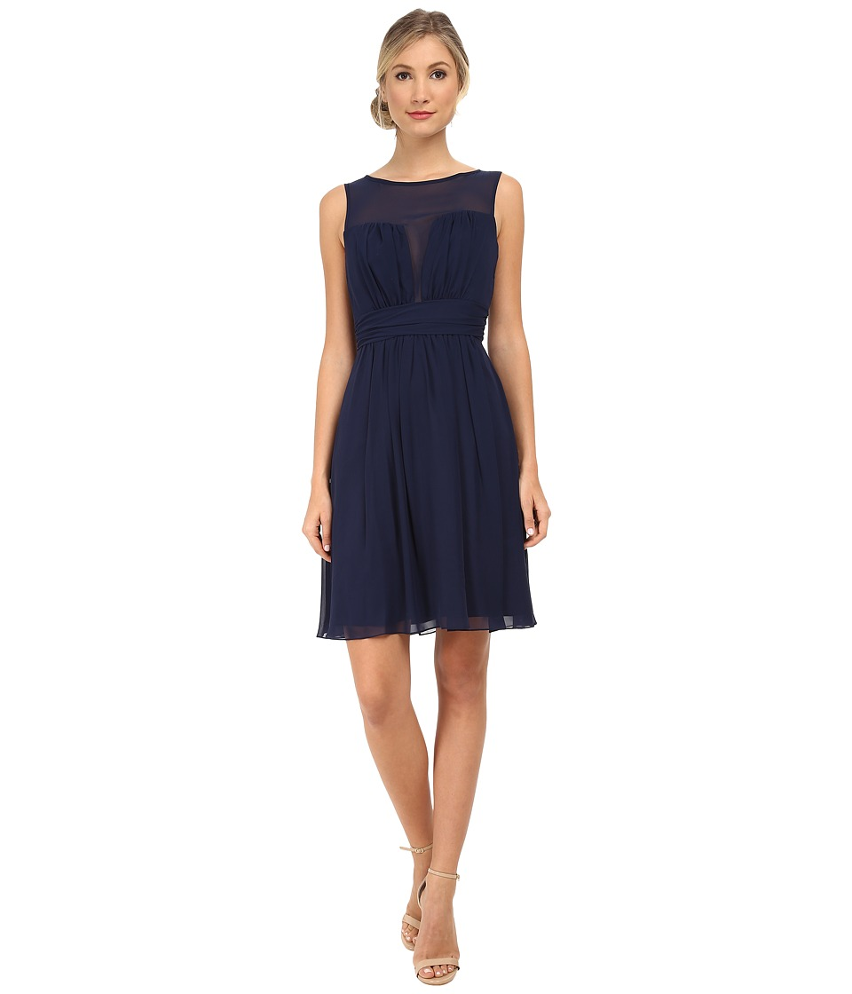 Alejandra Sky - Shari Chiffon Short Dress (Navy) Women's Dress