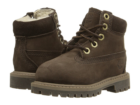 Timberland Kids - 6 Premium w/ Faux Shearling (Toddler/Little Kid) (Brown) Kids Shoes