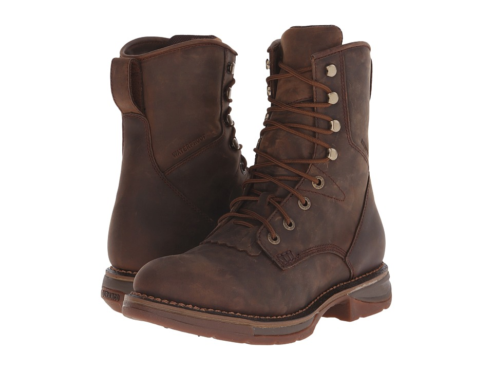 Durango - Workin Rebel 8 Lacer Waterproof (Brown) Men's Waterproof Boots