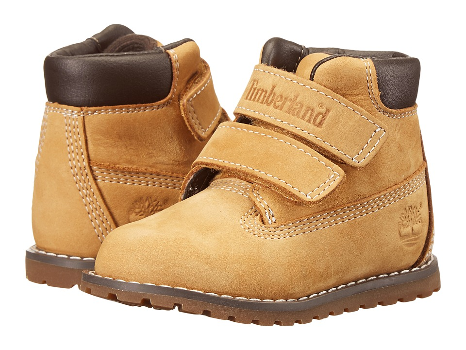Timberland Kids - Pokey Pine Hook Loop (Toddler/Little Kid) (Wheat Nubuck) Kids Shoes