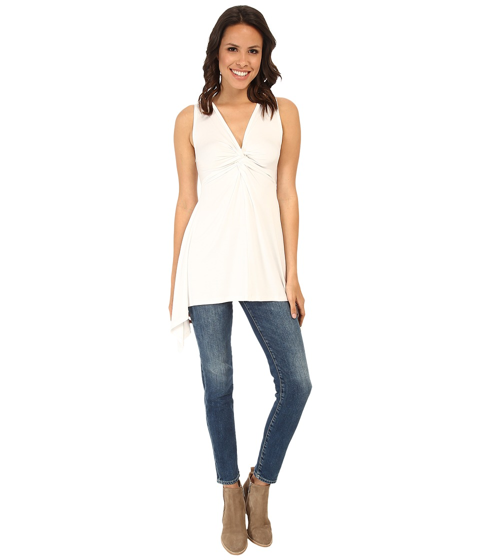Karen Kane - Twist Front Tank Top (Off White) Women's Sleeveless